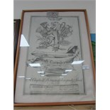 Lot 61 - Framed Caledonian Airways poster