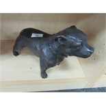 Lot 52 - Heavy bronze Staffordshire Bull Terrier figure