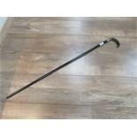 Lot 39 - Silver rimmed walking stick