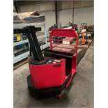 Crown Center Rider Pallet Truck. 8000 lbs. Capacity. Model 80PC-S. Serial 6A107250. 24 Volts DC,