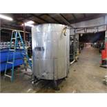 Stainless Steel Tank, 64 inches Diameter, 76.5 inches Height, Agitator/Mixer, Discharge Bottom,