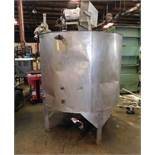 Stainless Steel Tank, 62 inches Diameter, 48.25 inches Height, Agitator/Mixer, Discharge Side and