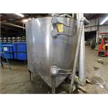 Stainless Steel Tank, 59.5 inches Diameter, 48.5 inches Height, Agitator/Mixer, Discharge Bottom,