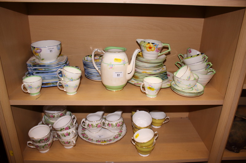 "Lot 51 - A quantity of various tea wares, including Paragon ""Iceland Poppy"" and others"