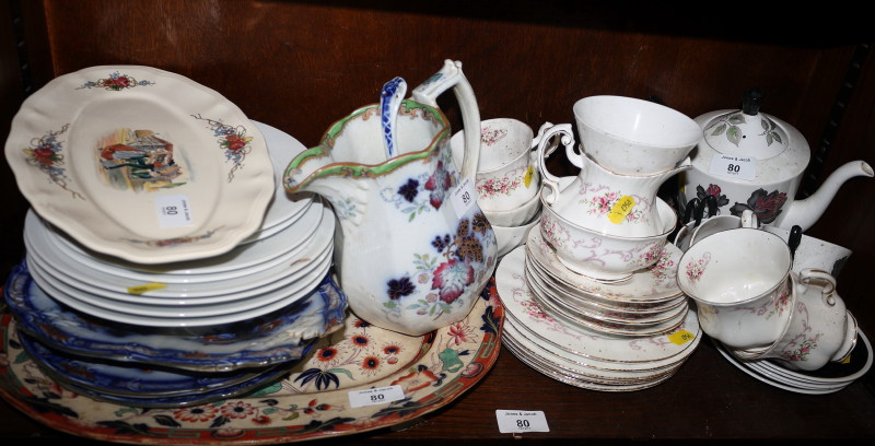 "Lot 39 - A Royal Albert ""Masquerade"" part coffee service, a Paragon ""Rose Bouquet"" part tea set, and other"