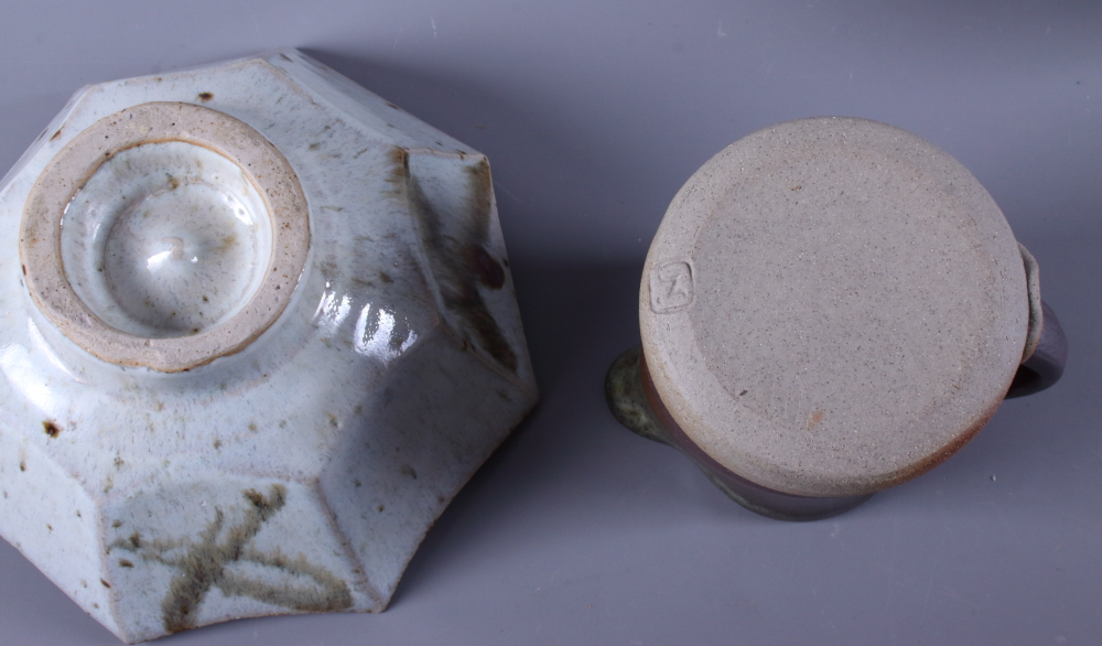 Lot 46 - A collection of various mid 20th century studio pottery, including teapots, bowls, etc,