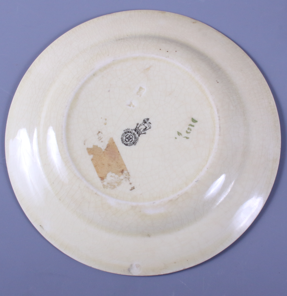 """Lot 5 - Two Royal Doulton series ware plates, """"Jackdaw of Rheims"""" D2532, 10 1/4"""" dia, together with a"""