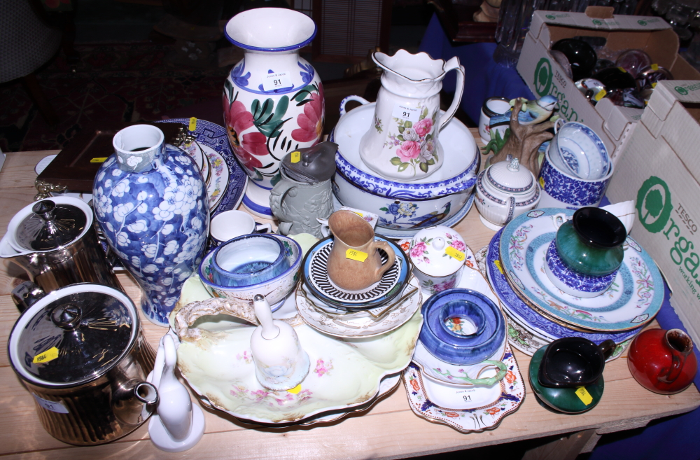 Lot 47 - A collection of various decorative ceramics, including plates, vases, bowls, etc