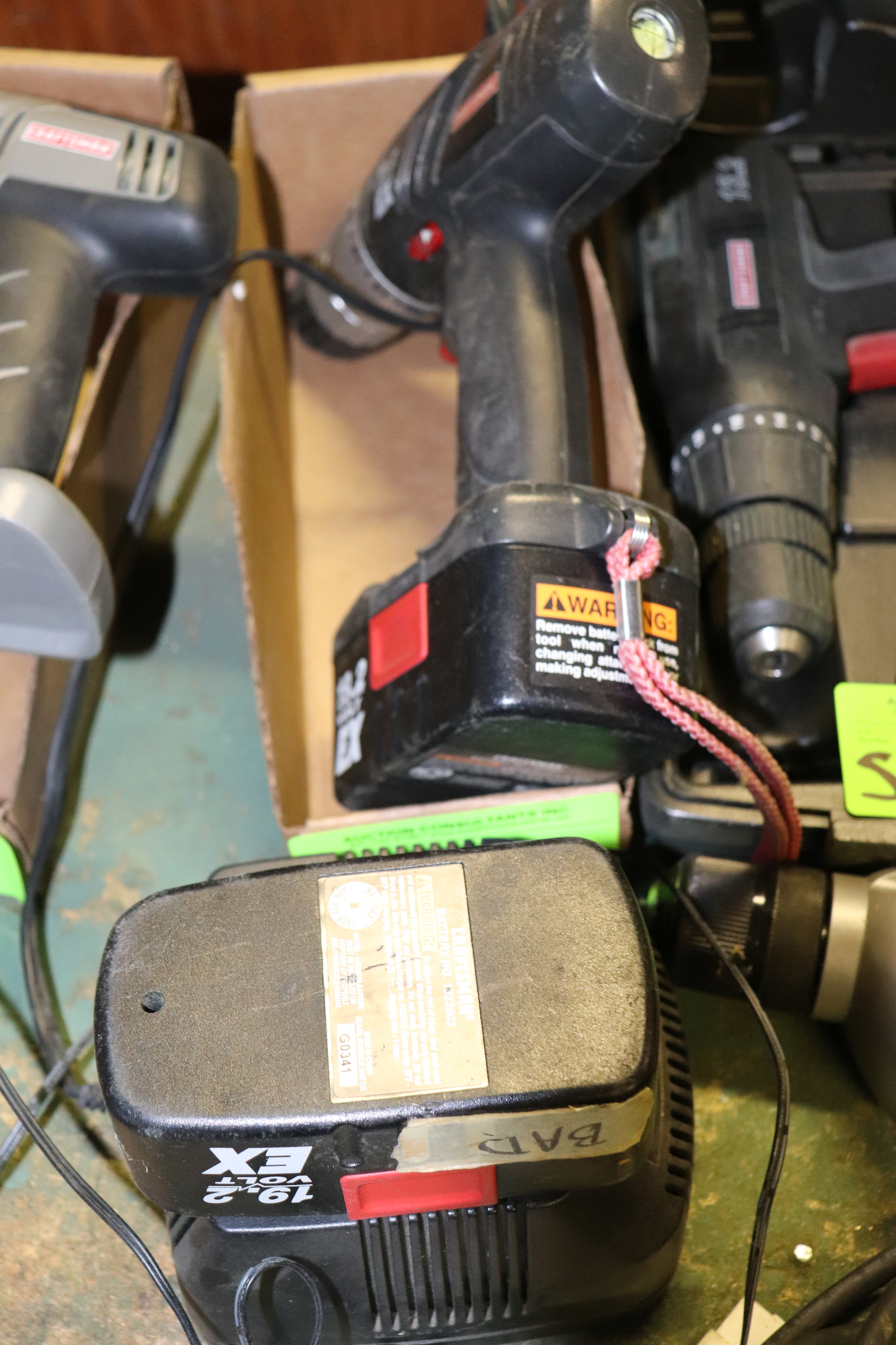 Lot 51 - Craftsman drill, battery powered, with battery and charger