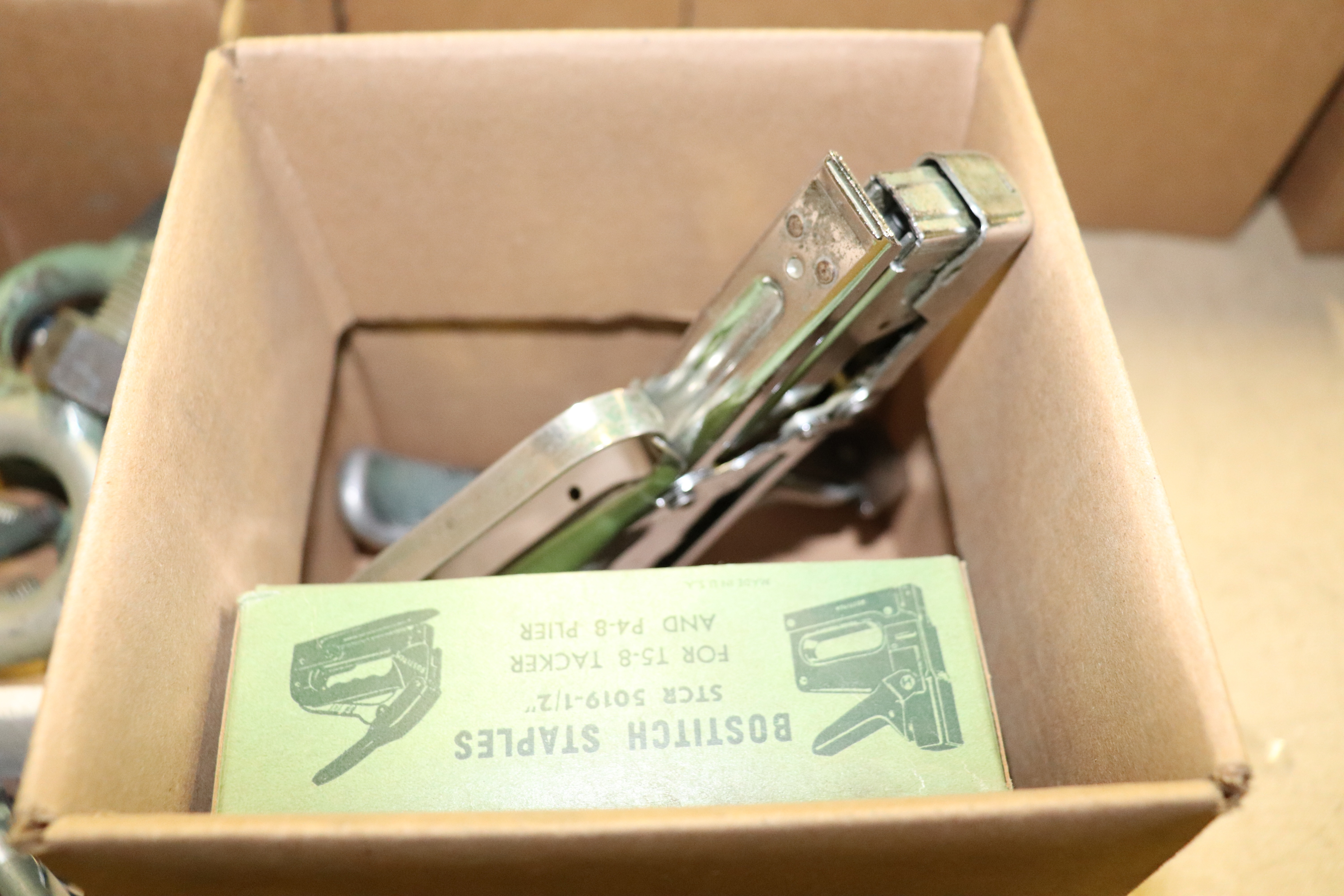 Lot 9 - Staplers and an opener