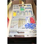 Case with drill bits and screws