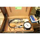 Vacuum pressure gauge and master dial gauge, in case