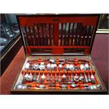 A Webber & Hill silver plated 124 piece canteen, together with a 12 piece canteen comprising of