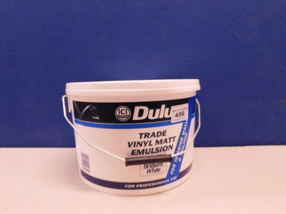 Dulux Trade Trade White Supermatt Emulsion Paint 10L t