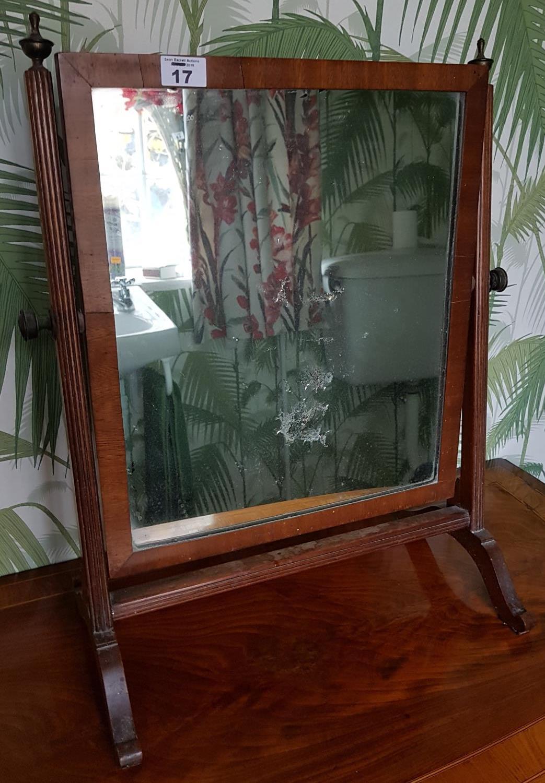 A 19th Century Mahogany Crutch Mirror. 42cm.