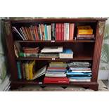 A good 19th Century Mahogany Crossbanded Open Shelves. 114cm.