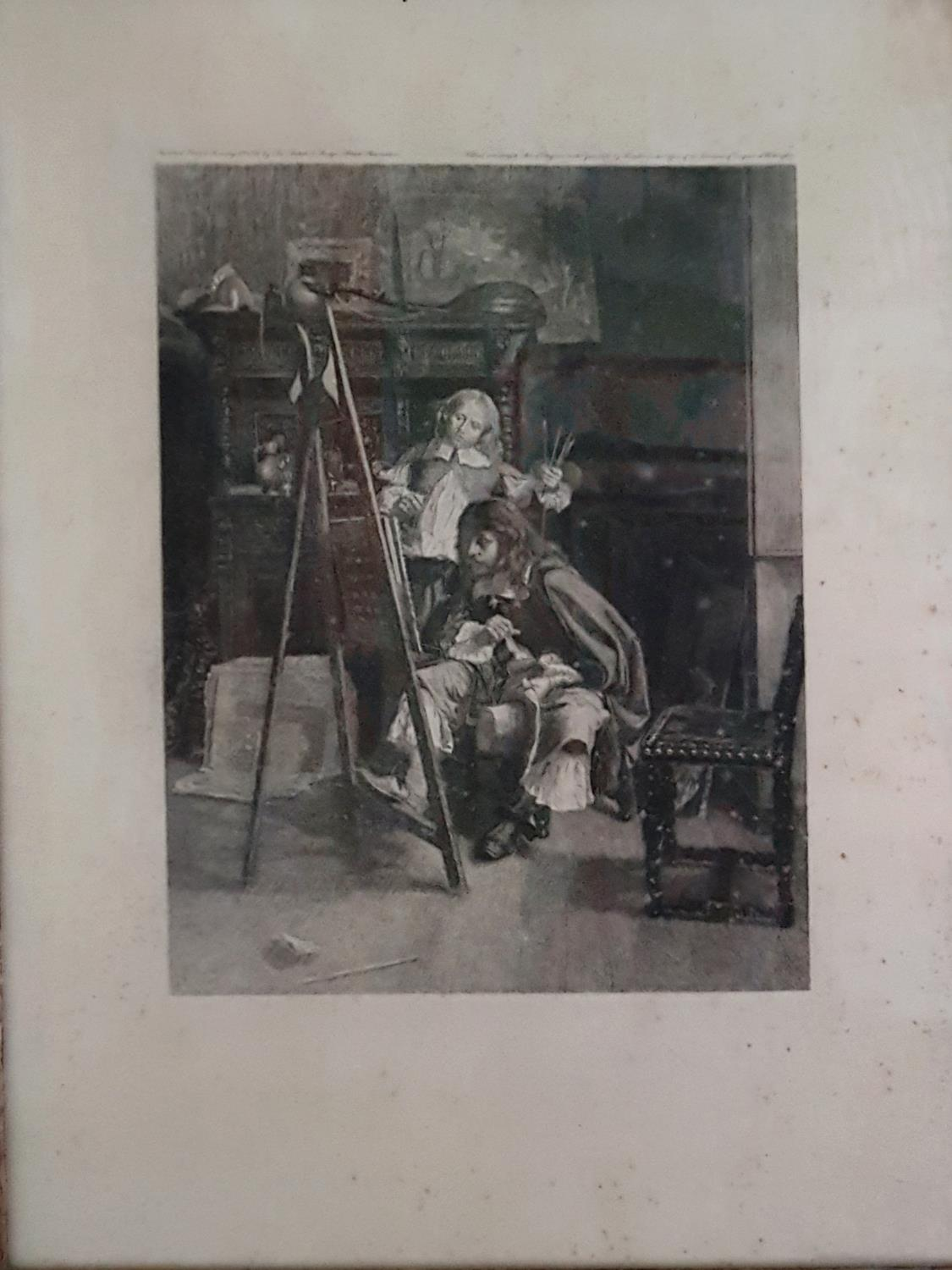 A 19th Century Engraving of a Military Officer by Felix (Ouvary) in original frame. - Image 2 of 3