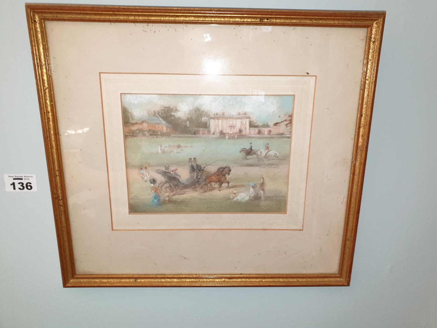 A Pastel Picture of a 19th Century scene.