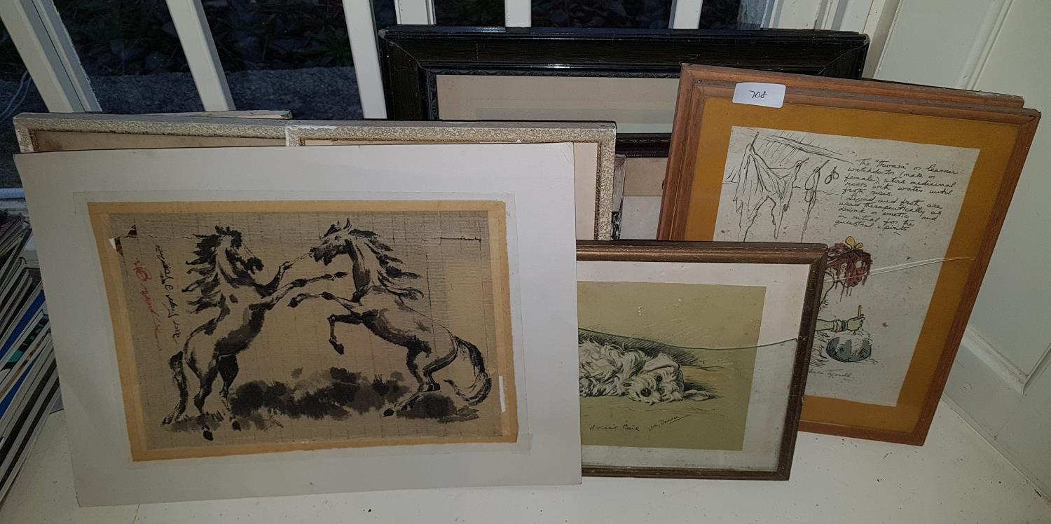 Lot 708 - A quantity of Pictures, Photos and Prints.