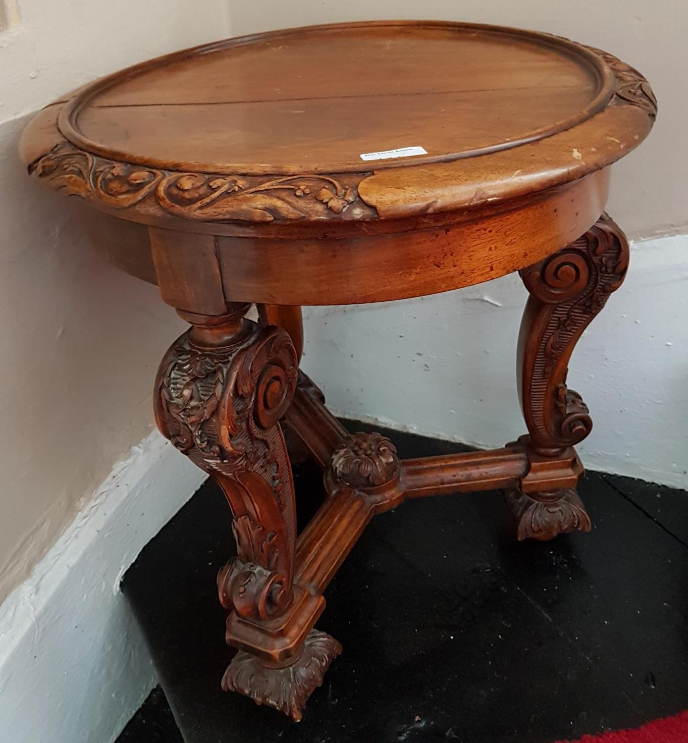 A Mahogany carved Planter in the Oriental taste. 42 x H44cm.