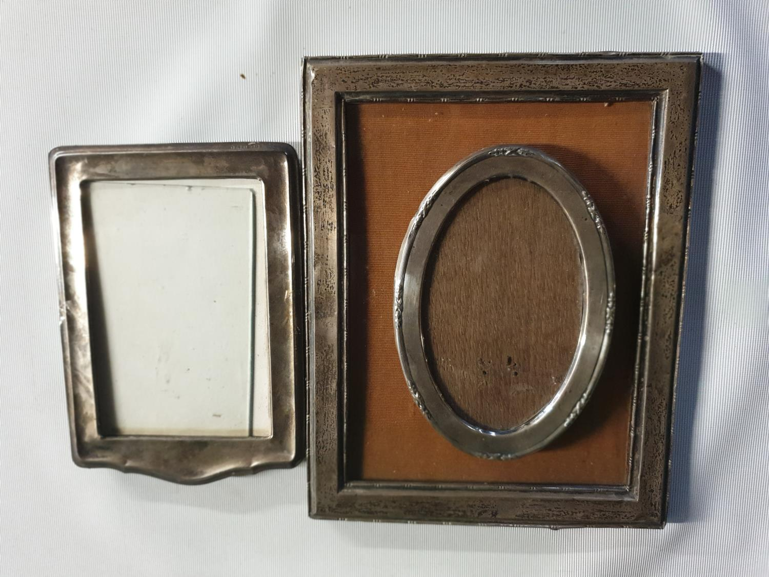 Lot 483 - Three silver Picture Frames.