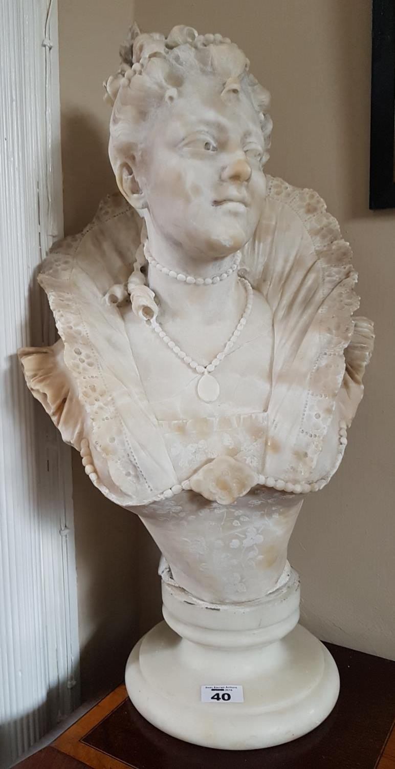 Lot 40 - A Marble Bust of a Female.