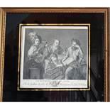 An 18th Century Engraving 'Les Quatre Ages'.