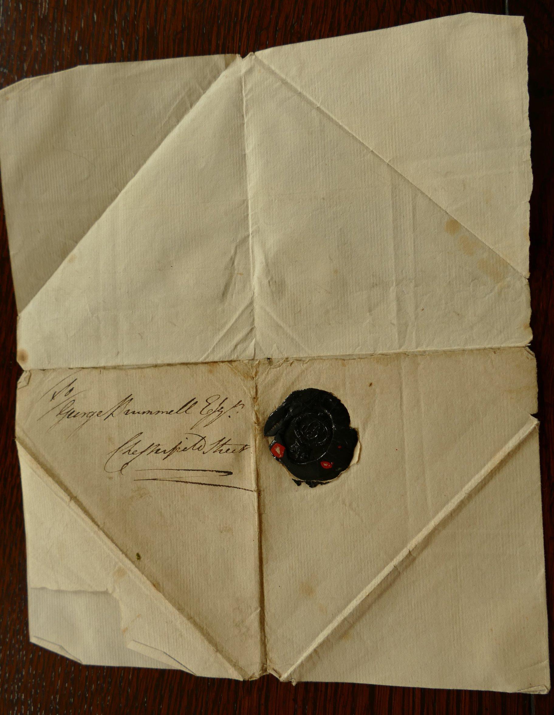 Lot 1006 - GEORGE, Prince Regent, letter signed, undated, to Beau Brummell,
