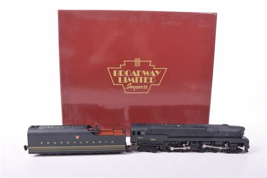 A boxed Broadway Limited Imports locomotive and tender setNo