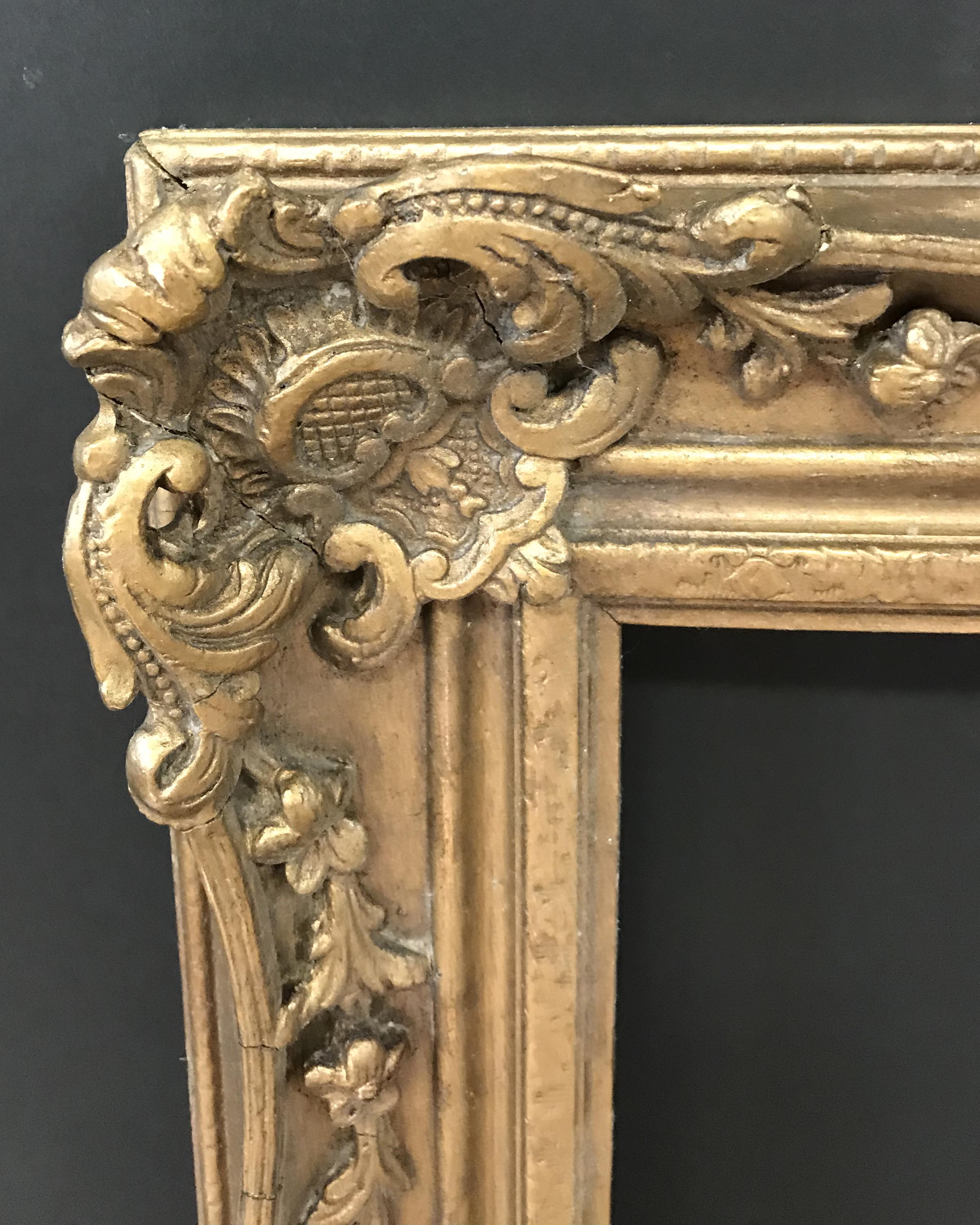 Lot 47 - 20th Century English School. A Gilt Composition Frame, with Swept and Pierced Centres and Corners,