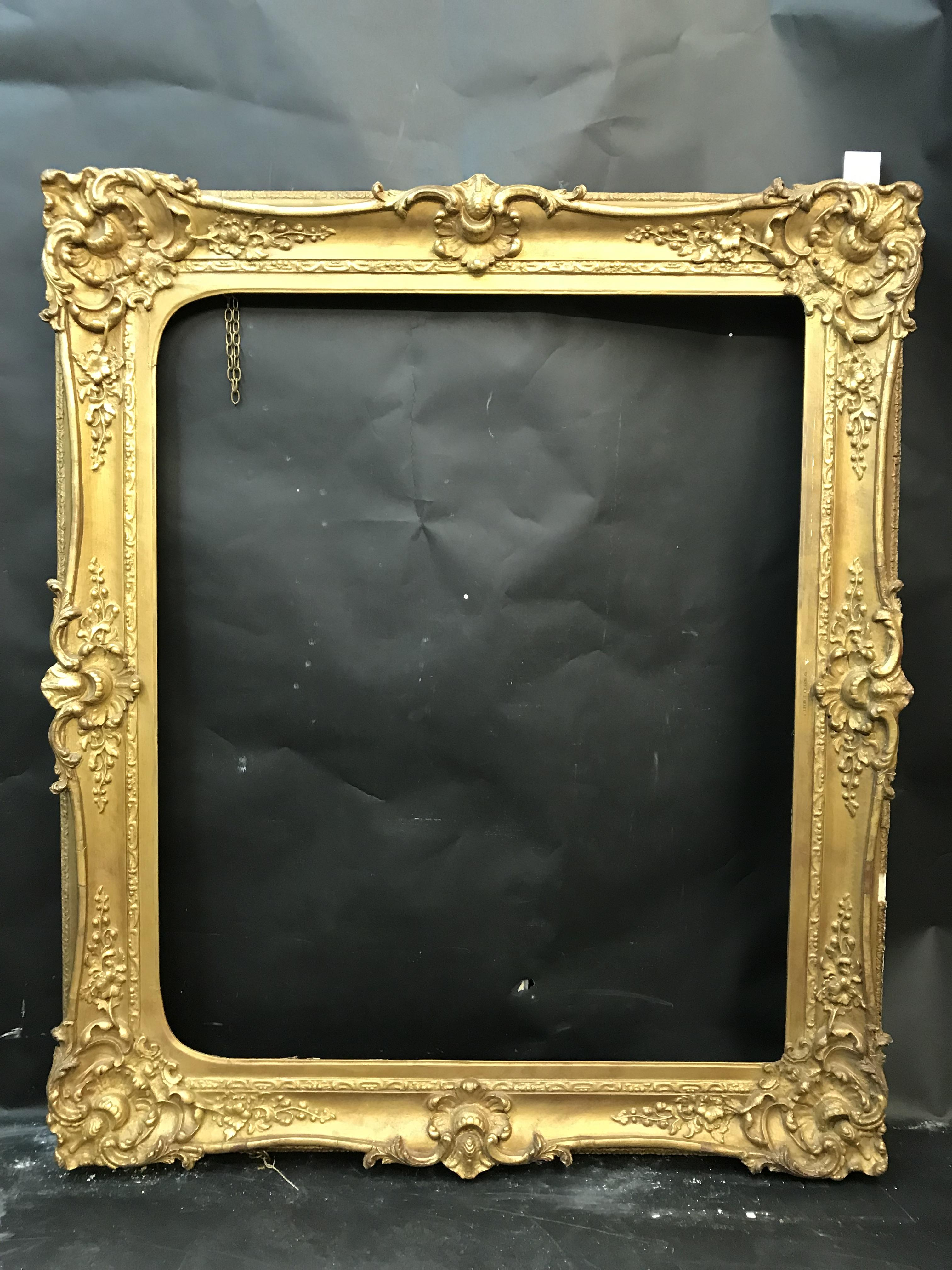 "Lot 10 - 19th Century English School. A Gilt Composition Frame, with Swept Centres and Corners, Arched, 32"" x"