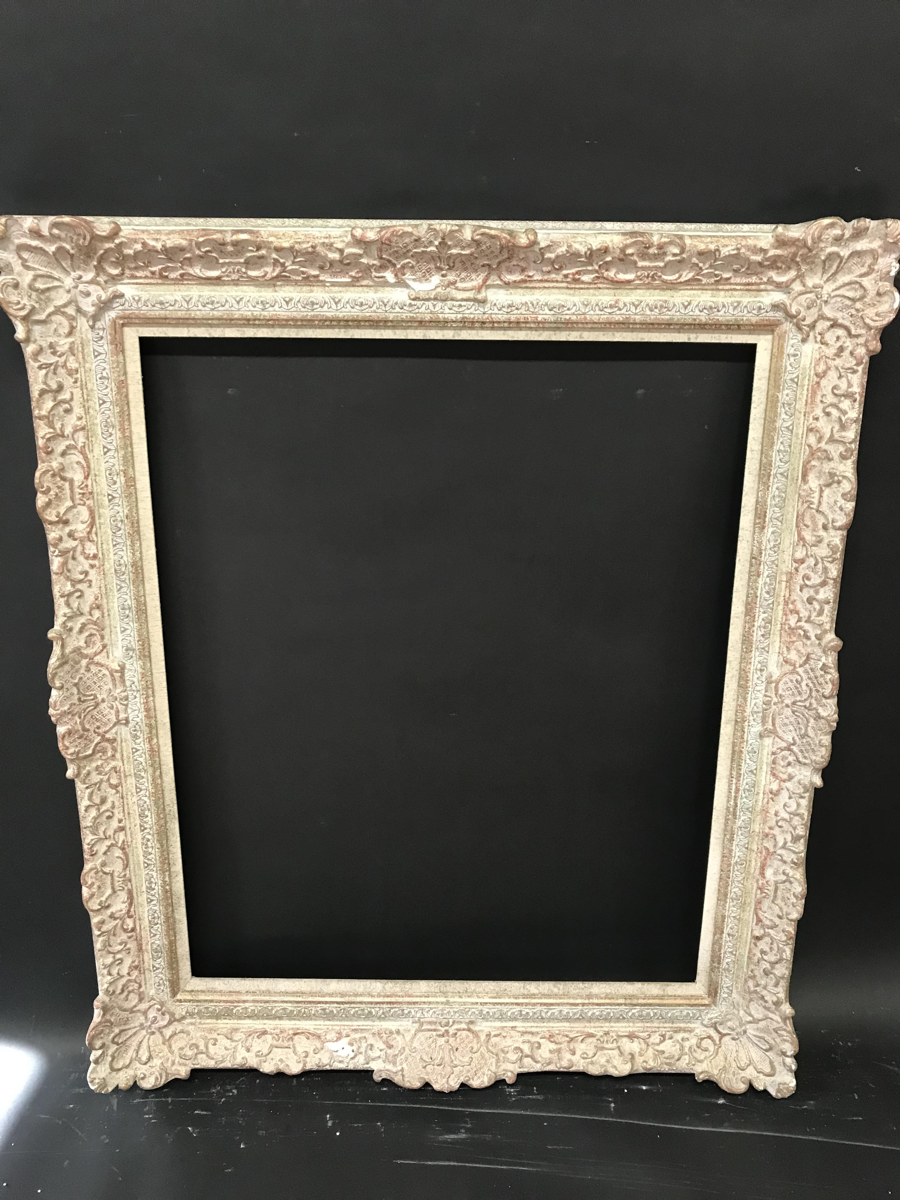 Lot 44 - 20th Century English School. A Painted Composition Frame, with Swept Centres and Corners, and a