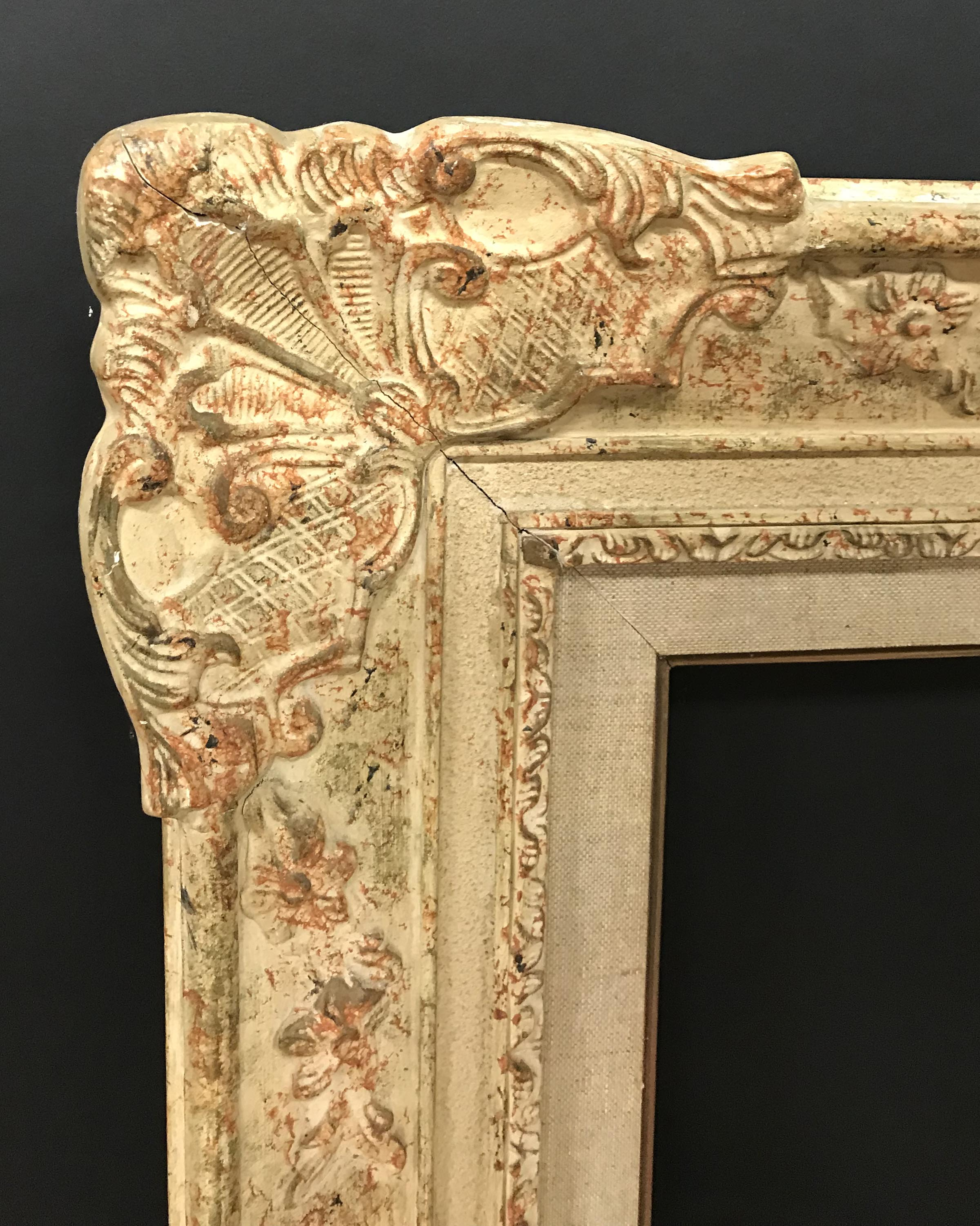 """Lot 3 - 20th Century English School. A Painted Composition Frame, with Swept Centres and Corners, 29"""" x 23."""