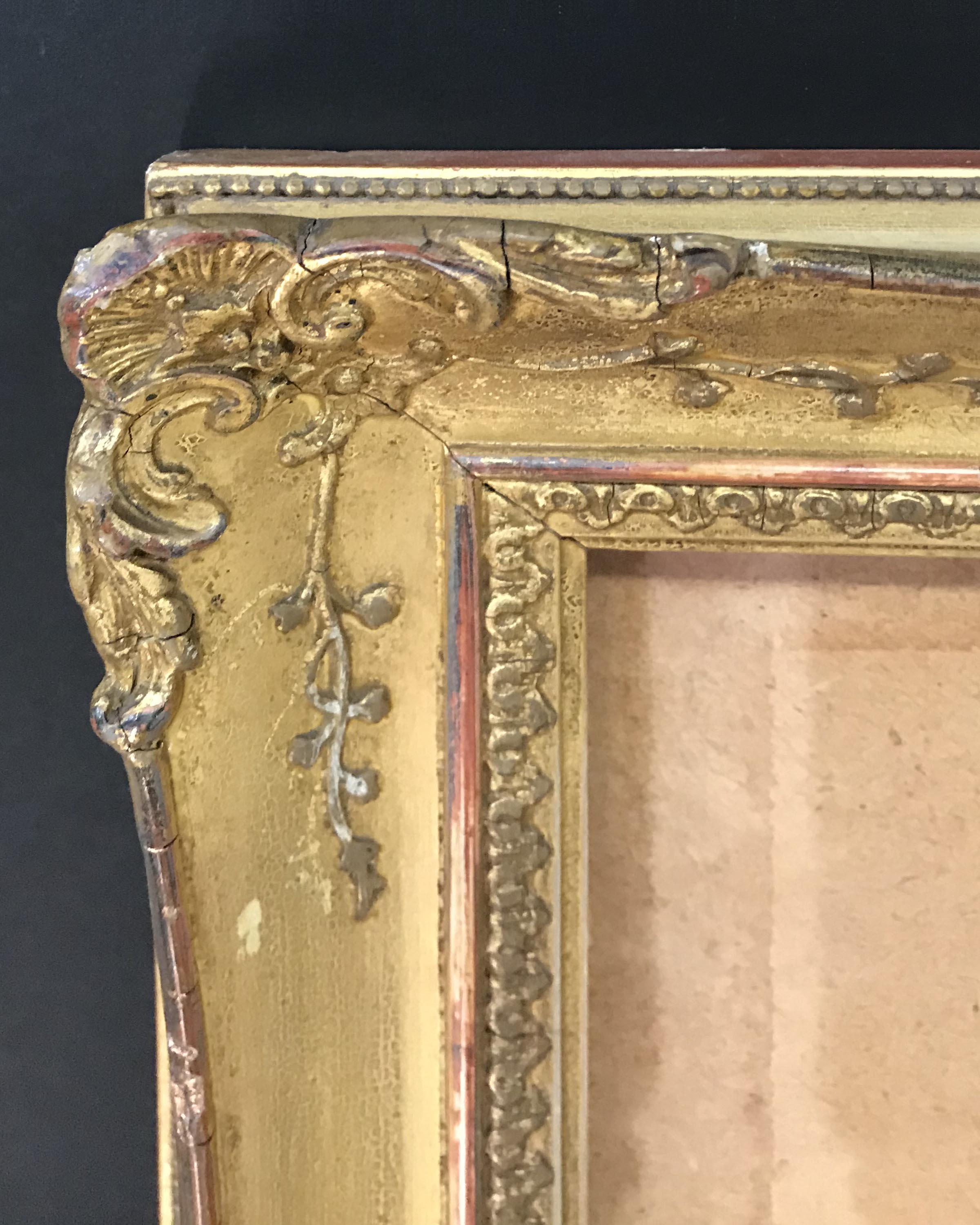 """Lot 59 - 19th Century English School. A Gilt Composition Watercolour Frame, with Inset Glass, 28.25"""" x 20.25"""""""