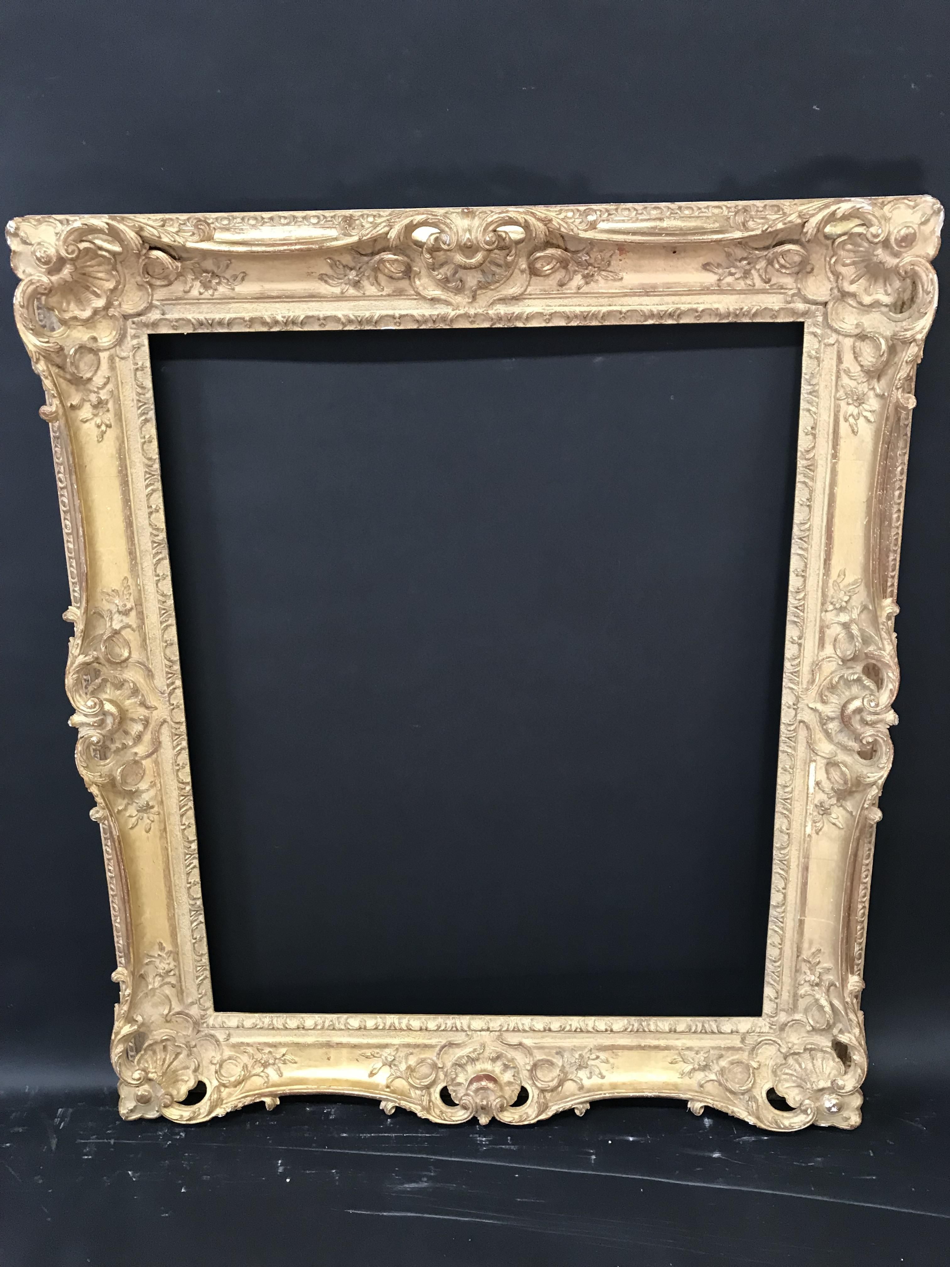 Lot 42 - 19th Century English School. A French Style Gilt Composition Frame, with Swept and Pierced Centres
