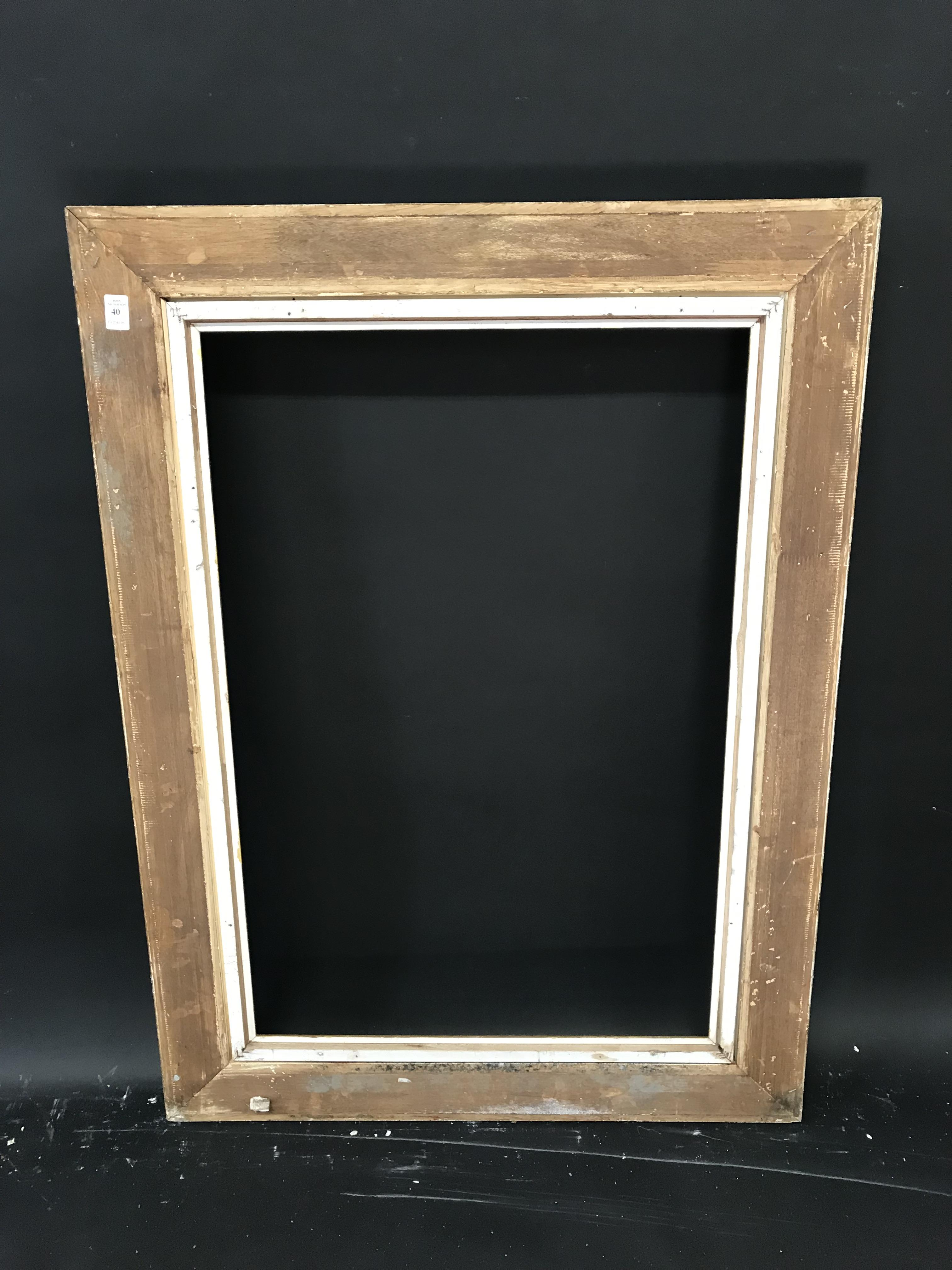"""Lot 40 - 20th Century English School. A Gilt Composition Frame, with Swept Centres and Corners, 31.25"""" x"""
