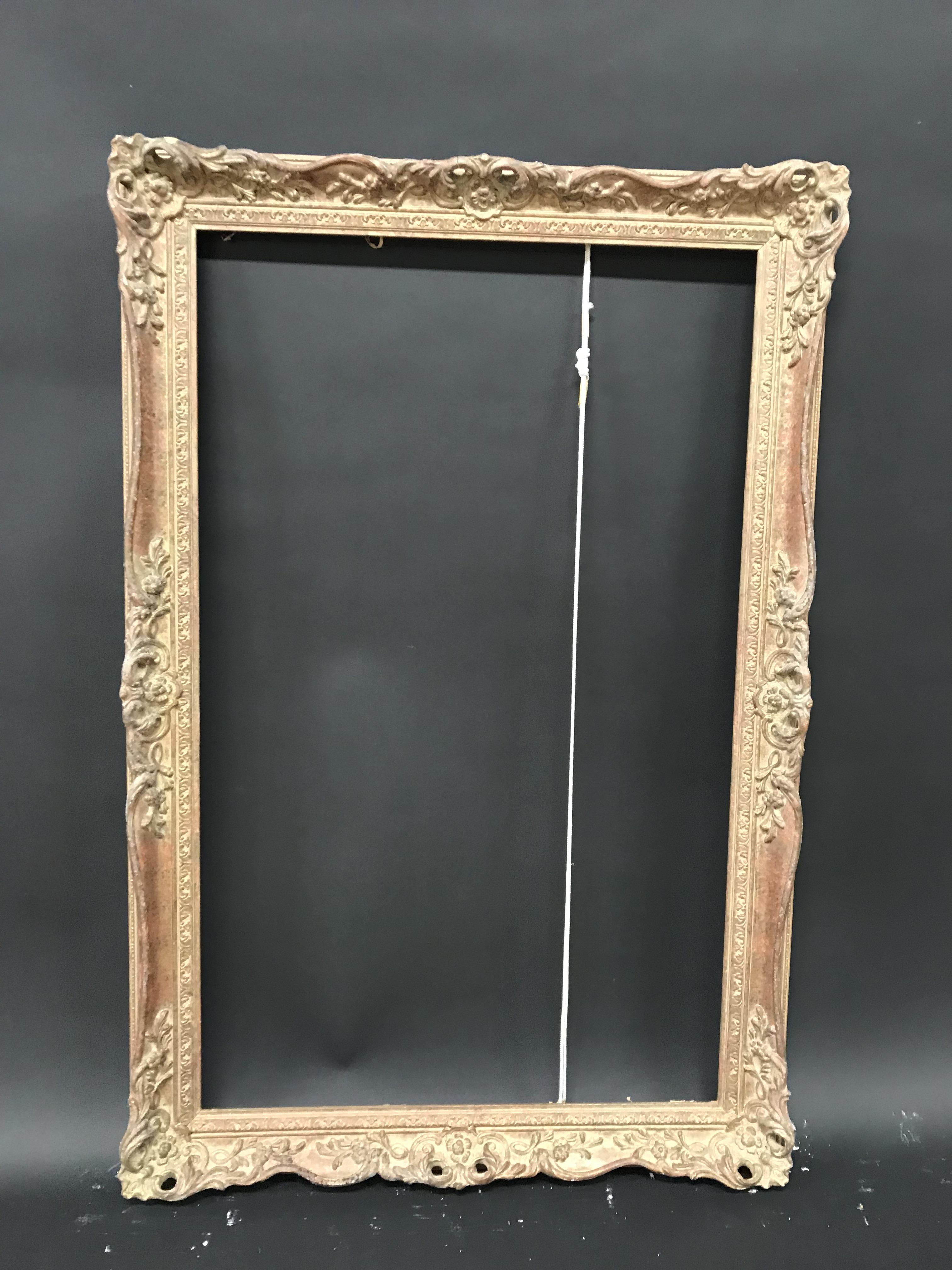Lot 8 - 20th Century English School. A Gilt Composition Frame, with Swept and Pierced Centres and Corners,