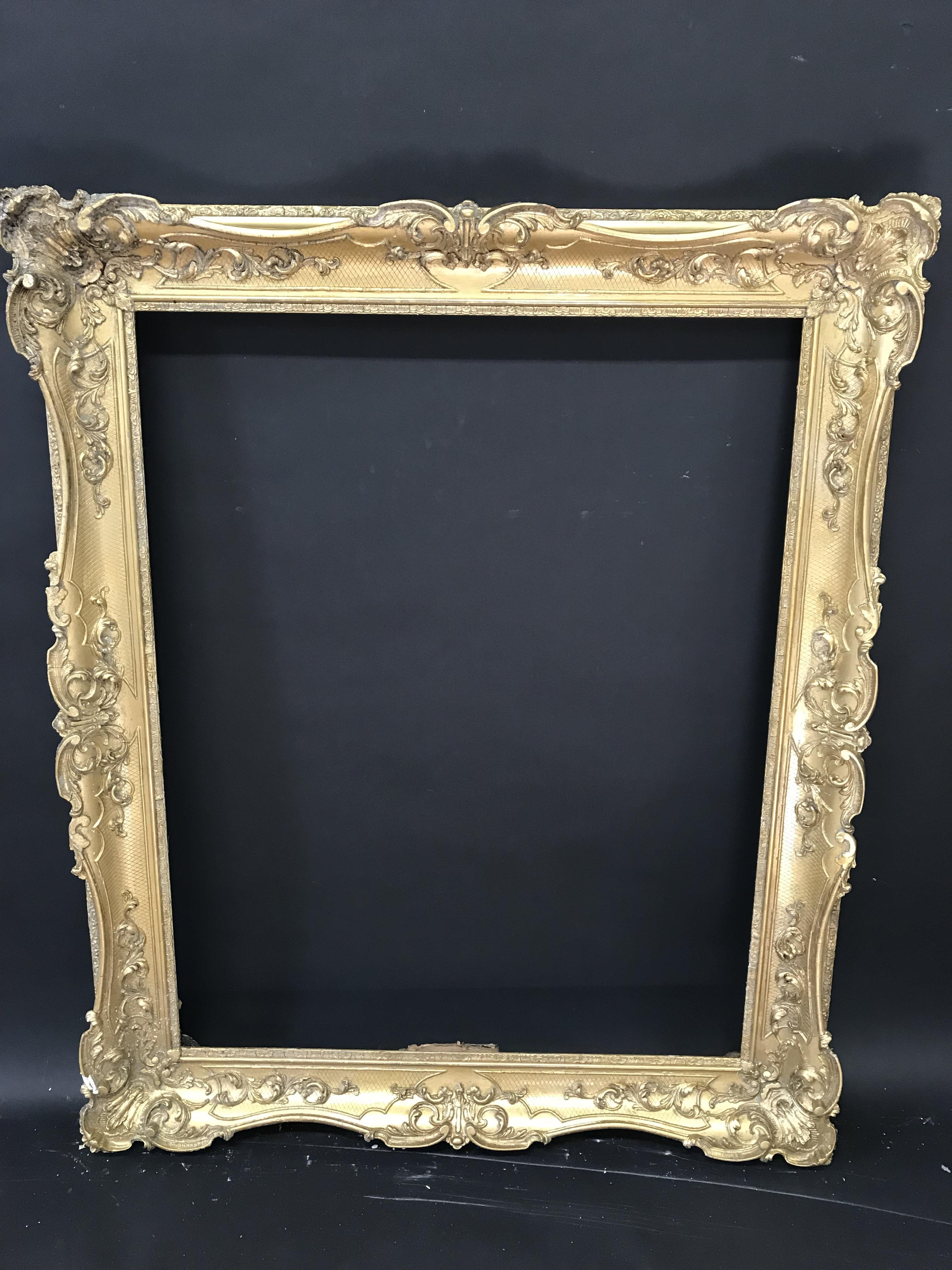 "Lot 39 - 19th Century English School. A Gilt Composition Frame, with Swept Centres and Corners, 38.5"" x 30.5"""