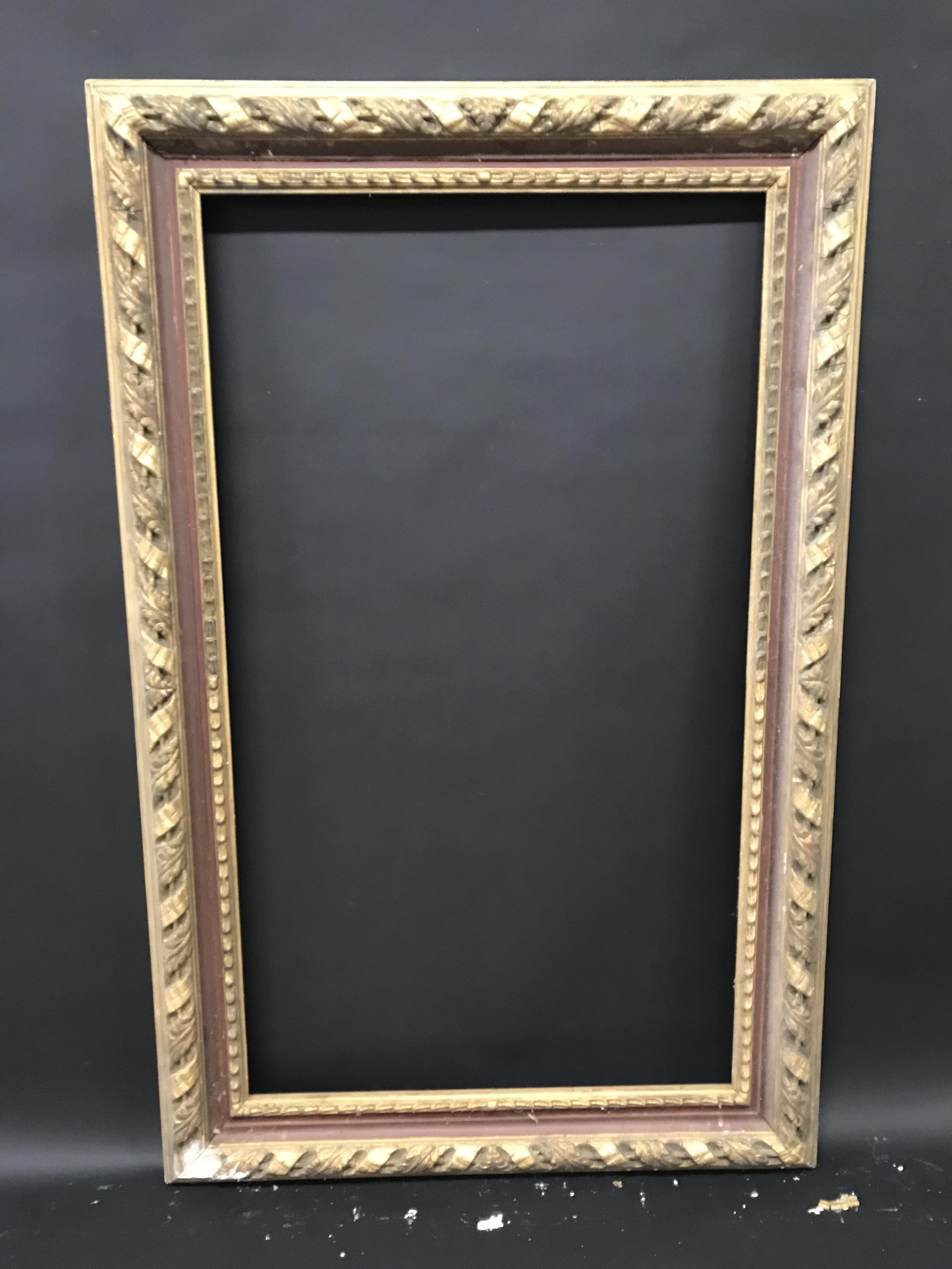 """Lot 11 - 19th Century English School. A Gilt Composition and Red Painted Frame, 42"""" x 24"""" (rebate)."""