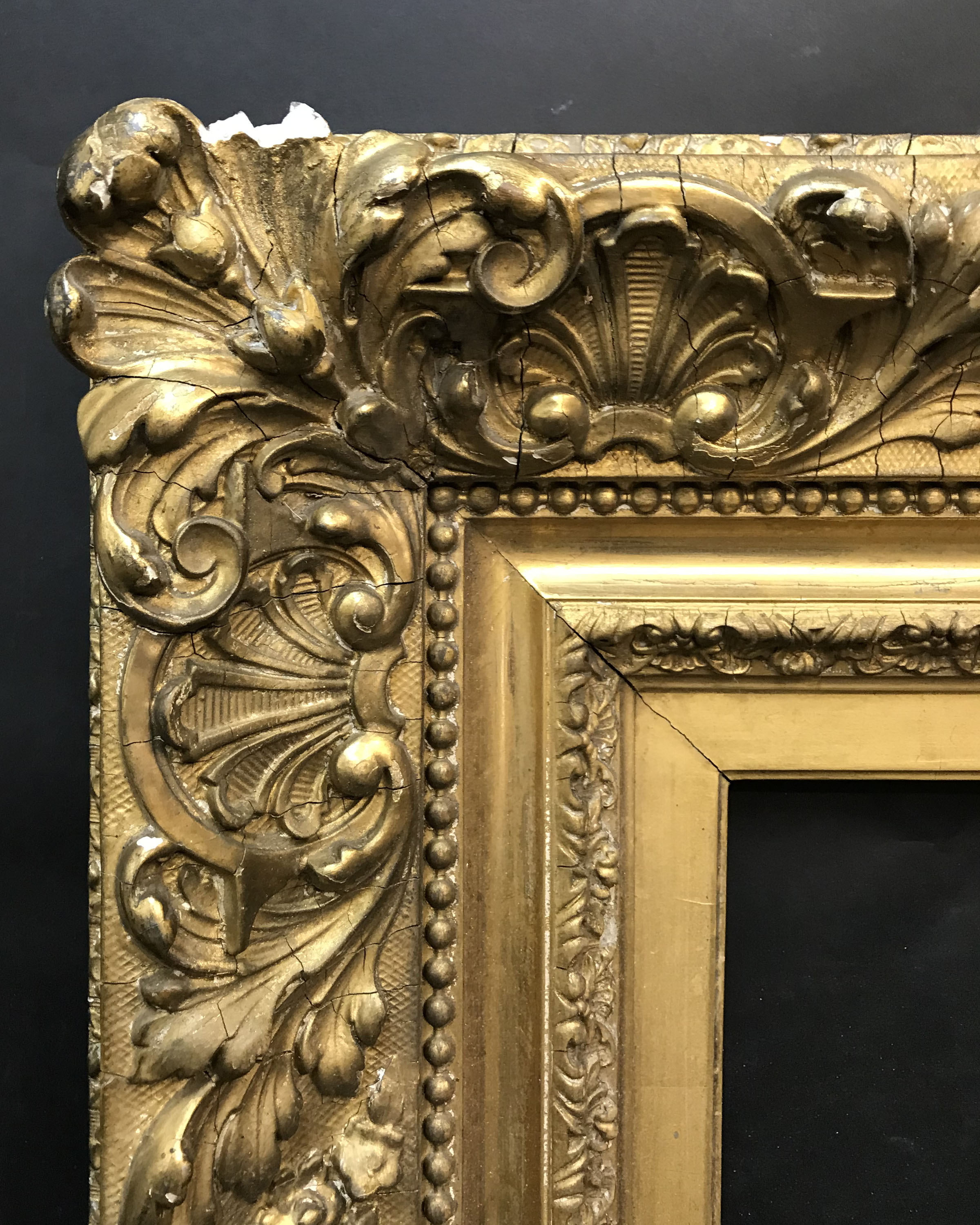 "Lot 53 - 19th Century English School. A Gilt Composition Frame, 22.25"" 18.5"" (rebate)."