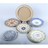 Three Doulton series ware plates and a number of decorative plates, various, and a stilton stand