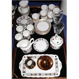"""A Wedgwood """"Marguerite"""" part coffee service, a Queens part teaset, decorated playing cards, and"""