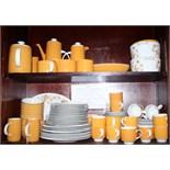 "A Royal Doulton ""Sundance"" combination service, including tea cups and saucers, tea plates, dinner"