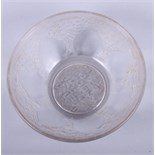 """A Lalique coup, decorated """"Verrerie d'Alsace"""" pattern, marked R.Lalique France, 5"""" wide"""