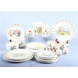 A quantity of early 20th century Royal Doulton Bunnykins nurseryware, including a feeding bowl,