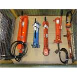 5x Manual Hydraulic Ram Pumps
