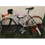 2X2 Training Bike on Frame, shoes, spare wheel, Vuelat wheels, Mad Speed7 wheel