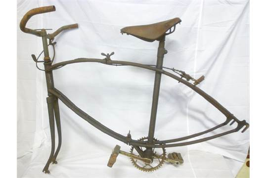 A rare Second War BSA Airborne Forces folding bicycle as