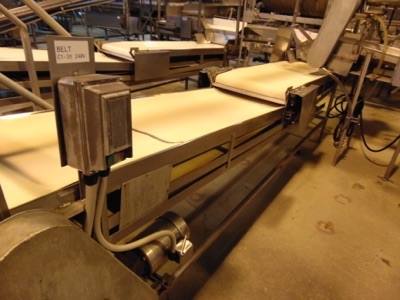 "Lot 654 - S.S. Product Belt Conveyor, 24""W x 16'L"