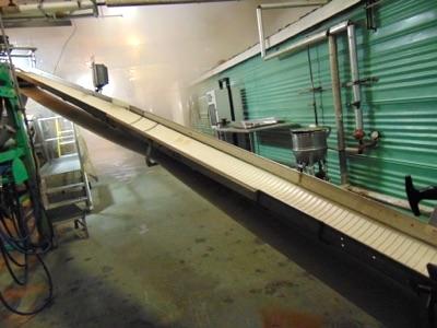 "S.S. Product Belt Conveyor, 12""W x 20'L"